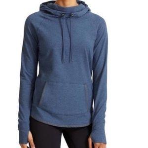 Athleta sentry cowl neck hoodie sweatshirt blue